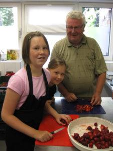 Aardbeien keuken