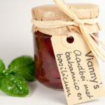 Vianny's aardbei met balsamico en basilicum gr