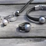 set-leer-dun-grijs-cab-zilver-ovaal-zilver-parel-grijs